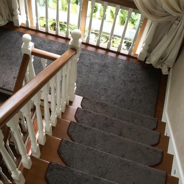 Ковровые накладки на лестницу Шоколад коричневый