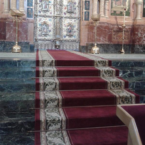 Ковровые дорожки Венеция бордовый