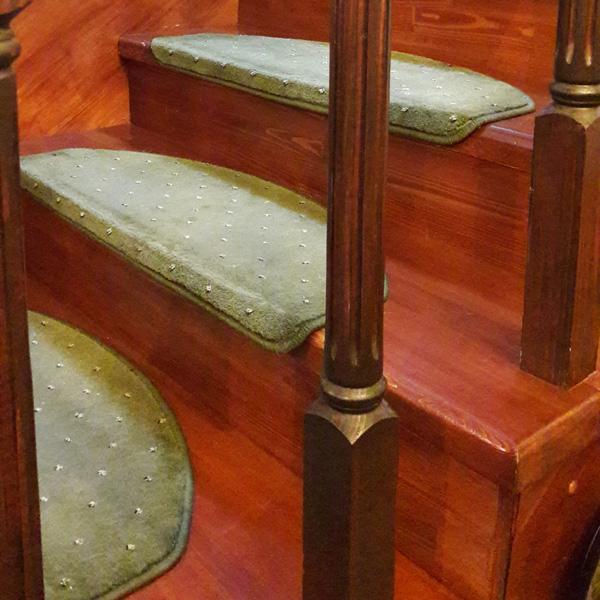 Ковровые накладки на лестницу Барс зелёный