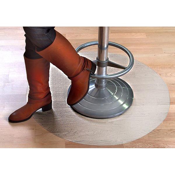 Круг — прозрачный защитный коврик под кресло из поликарбоната
