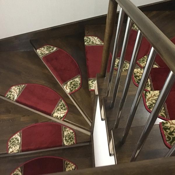 Ковровые накладки на лестницу Венеция бордовый