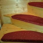 Ковровые накладки на лестницу Барс бордовый